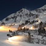 Skilauf nach dem Abendessen in Obertauern