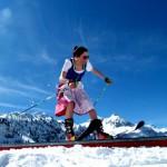 Hübsche Skiläuferinnen in Obertauern