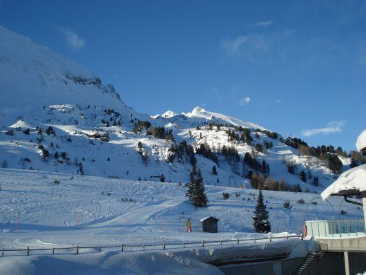 Wunderbare Aussicht aus dem Speisesaal des Hotel Snowwhite in Obertauern