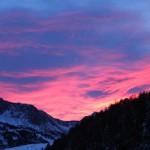 Wunderschönes Rot am morgendlichen Himmel Obertauerns…