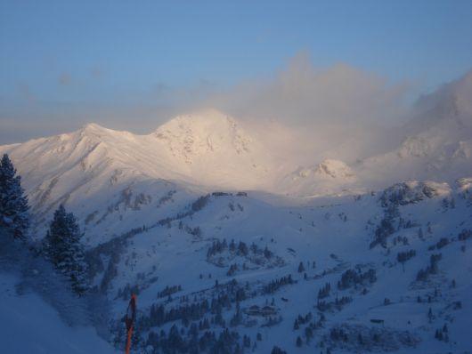 Die Morgensonne über Obertauern