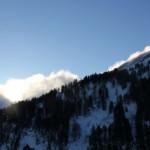 Der Föhn macht sich schon am Morgen in Obertauern bemerkbar