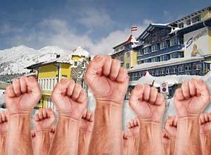 Protest des Tourismus