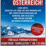 ORF Frühstücksfernsehen in Obertauern