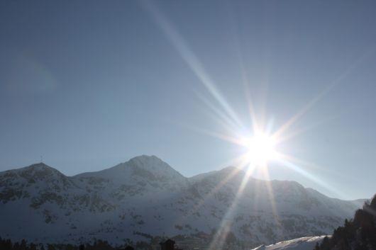 Die Morgensonne in Obertauern